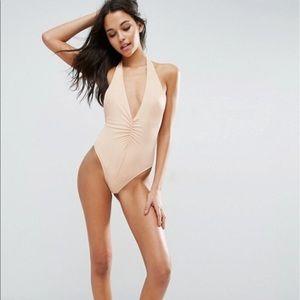 NWT ASOS High leg halter swimsuit 👙